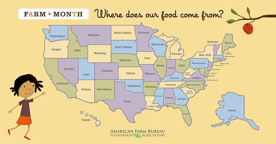 Farm a Month: Where Does Our Food Come From? by American Farm ...